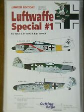 1/48 Cutting Edge LUFTWAFFE SPECIAL #1 Fw190A, Bf 109G & Bf 109K Decals rare OOP