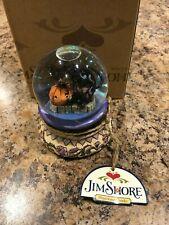Jim Shore Halloween Snowglobe Black Cat Pumpkin Waterball NRFB RARE 4014029