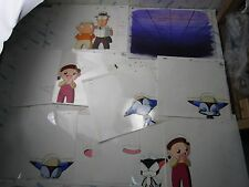 Cyborg Kuro-chan Anime Original Production Cel Celluloid With Sketch Set J Japan