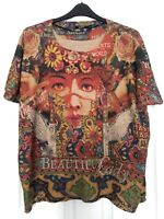 Desigual size S Small Oversized Loose Fit  'beautiful lady' Top