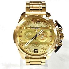 New Diesel DZ4377 Ironside Chronograph StainlessSteel Dial Golden Tone Men Watch
