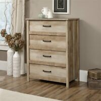 Sauder Cannery Bridge 4 Drawer Chest in Lintel Oak