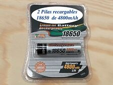 Pilas recargables 2 unidades 18650 4800 mAh Litio 3,7V 4.8A Pila 4,8A