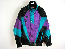 Vtg Mens S Coldwave Black Purple & Teal Ski Snowmobile Jacket