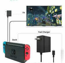 AC Adapter Fast Charger for Nintendo Switch / Lite / Dock -Support TV & Handheld
