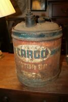 Vintage 5 Gallon Cargo Fleet Motor Oil Can LaFollette Tennessee RUSTY