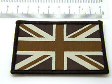 UNION JACK FLAG GB SUBDUED BROWN MILITARY PATCH BADGE SEW ON VELCRO TYPE QUALITY
