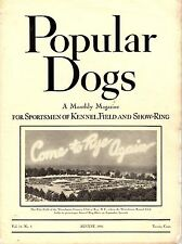 Vintage Popular Dogs Magazine August 1941 Westchester Kennel Club Cover