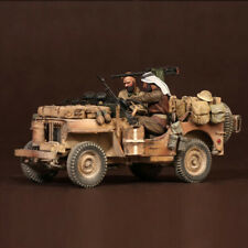 1:35 SAS Jeep Crew North Africa, Resin Model Soldier WWII Military 2-Figures