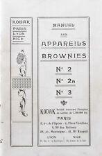 Instruction manual devices Kodak Brownies N°2 - 2A - 3. (Fr)