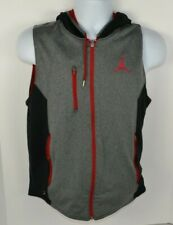 Nike Jordan Dri-Fit Reversible Full-Zip Jacket Vest Red Gray Small Jumpman