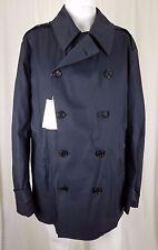 $2495 Mens Ralph Lauren Purple Label Double Breasted Peacoat Rain Trench Coat XL