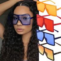 Women Oversized Aviator Sunglasses Flat Top Square Big Large Sun Glasses Eyewear