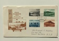 National Park Fuji Hkone Izu FDC Japan Jan.16,1962 W/Surcharge To US