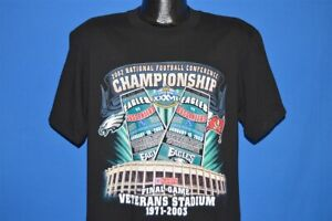 2003 NFC CHAMP PHILADELPHIA EAGLES TAMPA BAY BUCS VETERANS STADIUM t-shirt M