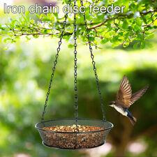 Hanging Wild Bird Feeder Metal Mesh Tray Nuts Seeds Fatballs Feeding Dish Kit