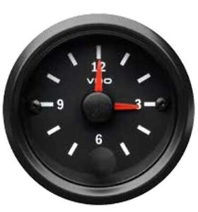 VDO Cockpit Vision New Style Clock with LED Illumination 52mm 12/24v 370.001