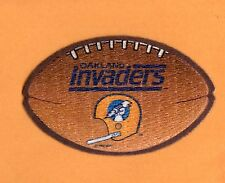 RARE OLD 1980's USFL IRON ON FOOTBALL PATCH OAKLAND INVADERS 4 inch UNUSED STOCK