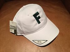 TaylorMade Headwear Performance Custom Men's White Golf Hat UPF 50+ Green F Logo