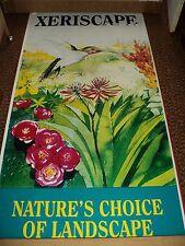 "70"" x 36"" Decorative Vinyl BANNER w/Flowers & Hummingbird - Xeriscape Landscape"