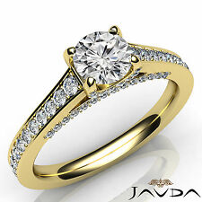 Shining Round Diamond Engagement GIA E VS2 Pre-Set Ring 18k Yellow Gold 1.25Ct