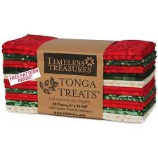 Timeless Treasures Tonga Treats Jingle 20 Strips Six Inch Batik Christmas Bundle