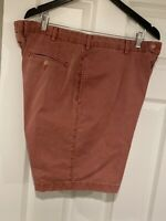 Peter Millar Mens Sz 40 Flat Front Chino Shorts 4 Pkt Brick Red Pima  Cotton
