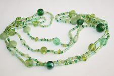 Green Bead Necklace / Summer Vintage / Retro / Boho / Hippy / Beach / NEW
