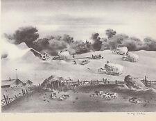 "Adolph Dehn's 1939 Authentic American Art Print""THRESHING"" Vintage WPA Art Print"