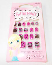 Fing'rs Girlie Stick on Nails 24 Nails HALLOWEEN BATS