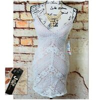 NEW Jump Apparel Floral Lace Sleeveless BodyCon Mini Dress Padded VNeck Size 1/2