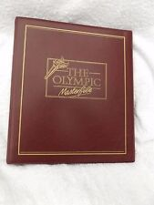 BURGUNDY 4-RING OLYMPIC MASTERFILE STAMP ALBUM EMPTY