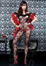 lingerie sexy tuta Catsuit Tutina intera a RETE Bodystocking pizzo sexy shop