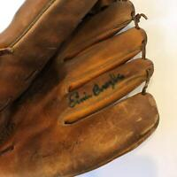 Ernie Broglio Signed 1960's Game Model Baseball Glove With JSA COA