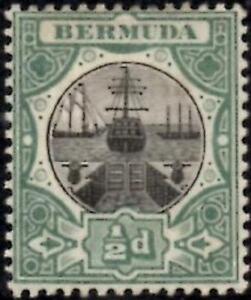 Bermuda 1903  1/2d Black & Green  SG.31 Mint (Hinged)  Wmk Crown CA