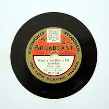 """Mellow e ricco """"quando un amico offerte un amico ADDIO"""" (e +) 9"""" broadcast 861 [78 rpm]"""