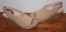 NEW Womens Taryn Rose Shoshana Beige Wedge Platform Shoes Size 7.5 M