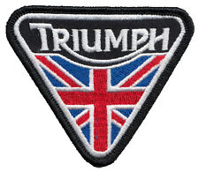 Triumph motorcycle / Union Jack embroidered patch