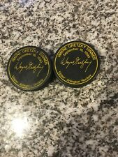 (2) 1990 Wayne Gretzky Dinner Upper Arlington Oh - Promo Blank Back Hockey Puck