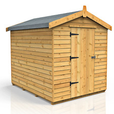 VERY STRONG SECURE 8ft x 6ft APEX WOODEN GARDEN SHED (FREE DELIVERY MOST AREAS)