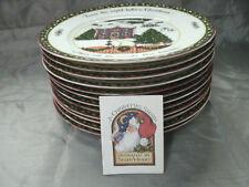 International China CHRISTMAS STORY 12 Dinner Plates Series 1 2 & 3 Susan Winget