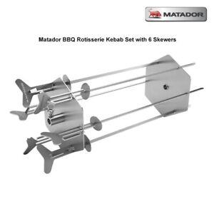 Matador BBQ Rotisserie Kebab Set with 6 Skewer