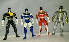 Power Rangers in Space Black, Blue, Red, and Silver Action Figure 1997 Bandai