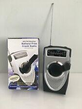 AM/FM/manovella Meteo Radio (BATTERIA gratuito o alimentata a batteria AA) no auricolari