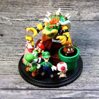 Super Mario Bros Action Figure Cute Display Toy Home Decoration Xmas Gift 5-10CM