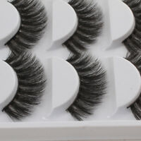 Soft 5 Pairs 3D Mink False Eyelashes Wispy Cross Long Thick Fake Eye Lashes #HD3