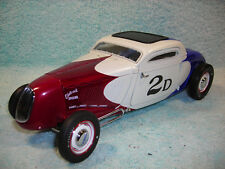 1/18 SCALE DIECAST 1934 FORD HOT ROD COUPE IN REDWHITEBLUE BY ACME GMP.