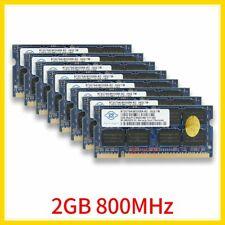For NANYA 16GB 8x 2GB 1GB DDR2 PC2-6400S 800MHz 200Pin SODIMM Laptop RAM 777 Lot