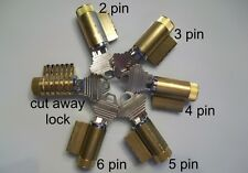 PRACTICE LOCK SET OF 6, LOCKS AND SERRATED PIN CUTAWAY LOCK, PICK SCHLAGE LOCKS
