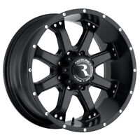 "4-NEW 16"" Inch Raceline 991B Assault 16x8 8x6.5"" +0mm Matte Black Wheels Rims"